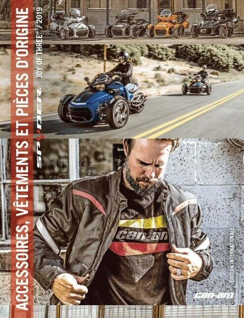 catalogue accessoires et vetements spyder can am 2019